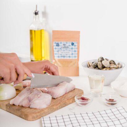 Caldo de pescado para alérgicos al marisco